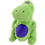 GoDog Dinos Chew Guard T-Rex Dog Toy, Green, Large