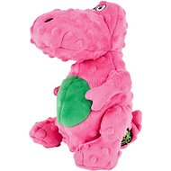 GoDog Dinos Chew Guard T-Rex Dog Toy, Pink, Large