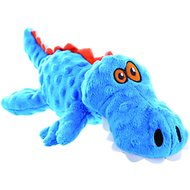 GoDog Just for Me Chew Guard Gators Dog Toy, Blue