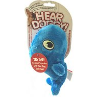 Hear Doggy Silent Squeaker Whale Dog Toy, Small