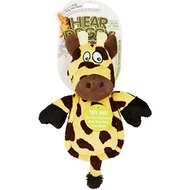 Hear Doggy Silent Squeaker Chew Guard Flattie Giraffe Dog Toy