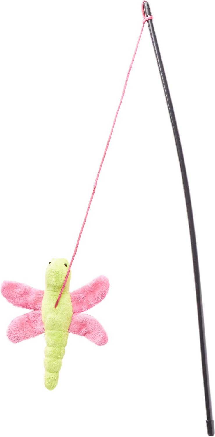 Petlinks dragon flyer wand cat toy for Cat wand toys