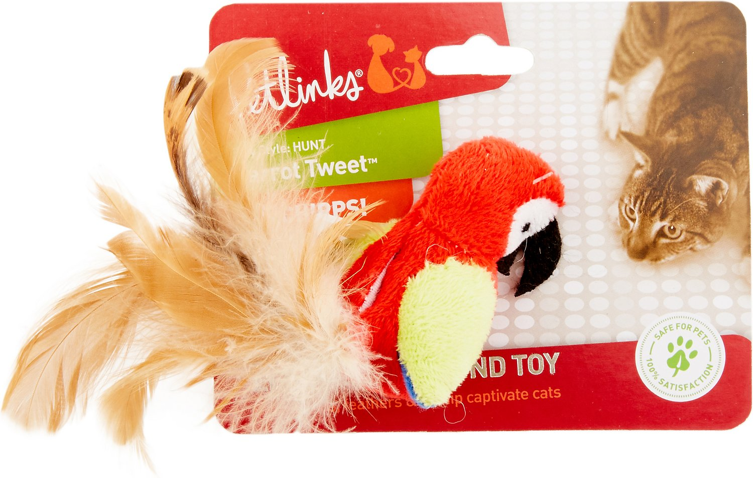 Petlinks Parrot Tweet Touch Activated Cat Toy