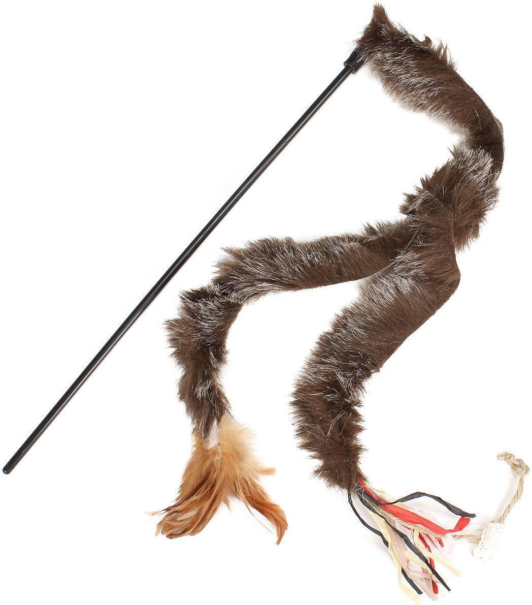 Petlinks twitchy tail wand cat toy for Cat wand toys