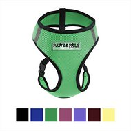 OxGord Control Black Pet Harness, Green, Medium