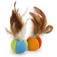 SmartyKat Flutter Balls Feathery Cat Toy