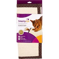 SmartyKat Scratch Nip Sisal Scratching Mat with Feather Cat Toy
