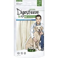 Digest-eeze Natural Savory Beefhide Thin Rolls Dog Treats, 8-inch, 10 count