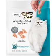 Fancy Feast Purely Natural Hand-Flaked Tuna Cat Treats, 1.06-oz pouch