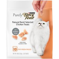 Fancy Feast Purely Natural Hand-Selected Chicken Cat Treats, 1.06-oz pouch