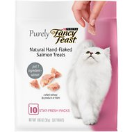 Purely Fancy Feast Natural Hand-Flaked Salmon Cat Treats, 1.06-oz pouch