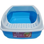 Two Meows Scatter Control High Sided Litter Box, Blue