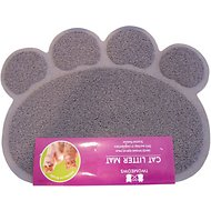 Two Meows Paw Shaped Litter Catching Mat, Gray