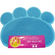 Two Meows Paw Shaped Litter Catching Mat, Blue