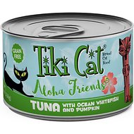 Tiki Cat Aloha Friends Tuna with Ocean Whitefish & Pumpkin Grain-Free Wet Cat Food, 5.5-oz can, case of 8