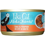 Tiki Cat Aloha Friends Tuna with Pumpkin Wet Cat Food, 3-oz can, case of 12