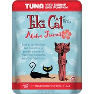 Tiki Cat Aloha Friends Tuna with Shrimp & Pumpkin Wet Cat Food, 3-oz pouch, case of 12