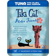 Tiki Cat Aloha Friends Tuna with Tilapia & Pumpkin Grain-Free Wet Cat Food, 3-oz pouch, case of 12