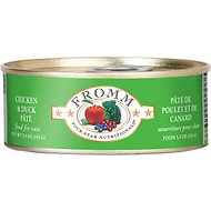 Fromm Four-Star Nutritionals Chicken & Duck Pate Grain-Free Canned Cat Food, 5.5-oz, case of 12