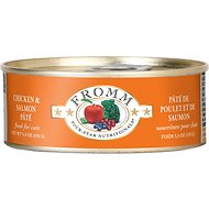 Fromm Four-Star Nutritionals Chicken & Salmon Pate Grain-Free Canned Cat Food, 5.5-oz, case of 12