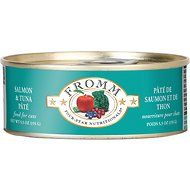 Fromm Four-Star Nutritionals Salmon & Tuna Pate Grain-Free Canned Cat Food, 5.5-oz, case of 12