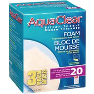 AquaClear Mini Foam Filter Insert, Size 20, 3 count