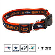 Pets First Denver Broncos Dog Collar, Large