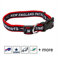 Pets First New England Patriots Dog Collar, Medium