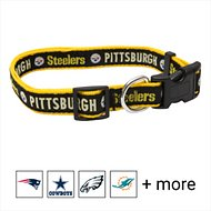 Pets First Pittsburgh Steelers Dog Collar, Large