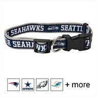 Pets First Seattle Seahawks Dog Collar, Small