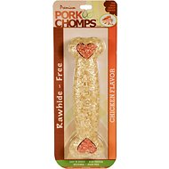 Premium Pork Chomps Chicken Flavor Crunchy Bone Dog Treat, 8-inch