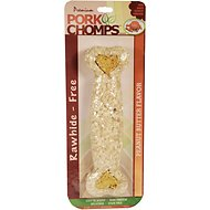 Premium Pork Chomps Peanut Butter Flavor Crunchy Bone Dog Treat, 8-inch
