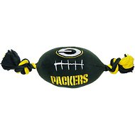 Pets First Green Bay Packers Football Dog Toy, 14-inch