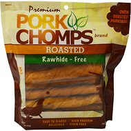 Premium Pork Chomps Roasted Twists Dog Treats, Large, 15 count