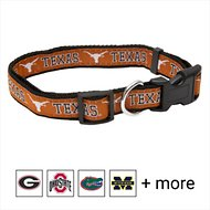 Pets First Texas Longhorns Dog Collar, Small
