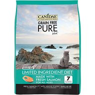 CANIDAE Grain-Free Limited Ingredient Diet PURE Sea with Fresh Salmon Dry Cat Food, 10-lb bag