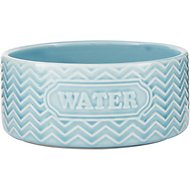 Signature Housewares Embossed Water Dog & Cat Bowl, Aqua, X-Small