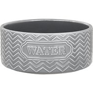 Signature Housewares Embossed Water Pet Bowl, Gray, X-Small