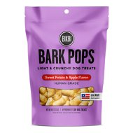 BIXBI Bark Pops Sweet Potato & Apple Flavor Light & Crunchy Dog Treats, 4-oz bag