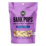 BIXBI Bark Pops White Cheddar Flavor Light & Crunchy Dog Treats, 4-oz bag