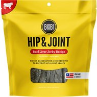 BIXBI Hip & Joint Beef Liver Jerky Recipe Dog Treats, 15-oz bag