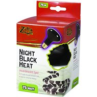 Zilla Night Black Heat Incandescent Spot Reptile Bulb, 75-watt