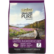 CANIDAE Grain-Free PURE Stream with Trout Limited Ingredient Diet Dry Cat Food, 5-lb bag