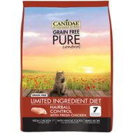 Canidae Grain-Free PURE Control Hairball Formula with Chicken Dry Cat Food, 5-lb bag