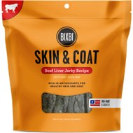 BIXBI Skin & Coat Beef Liver Jerky Dog Treats, 15-oz bag