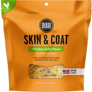 BIXBI Skin & Coat Chicken Jerky Dog Treats, 15-oz bag