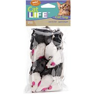 Penn-Plax Purr Pet Bag of Mice Cat Toy, Color Varies, 12 count