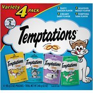 Temptations Feline Favorites Classic Variety Pack Cat Treats, 3-oz pouch, case of 4