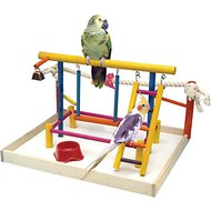 Penn-Plax Cockatiels & Medium Birds Wood Playpen, X-Large