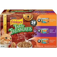 Friskies Tasty Treasures Variety Pack Canned Cat Food, 5.5-oz, case of 24